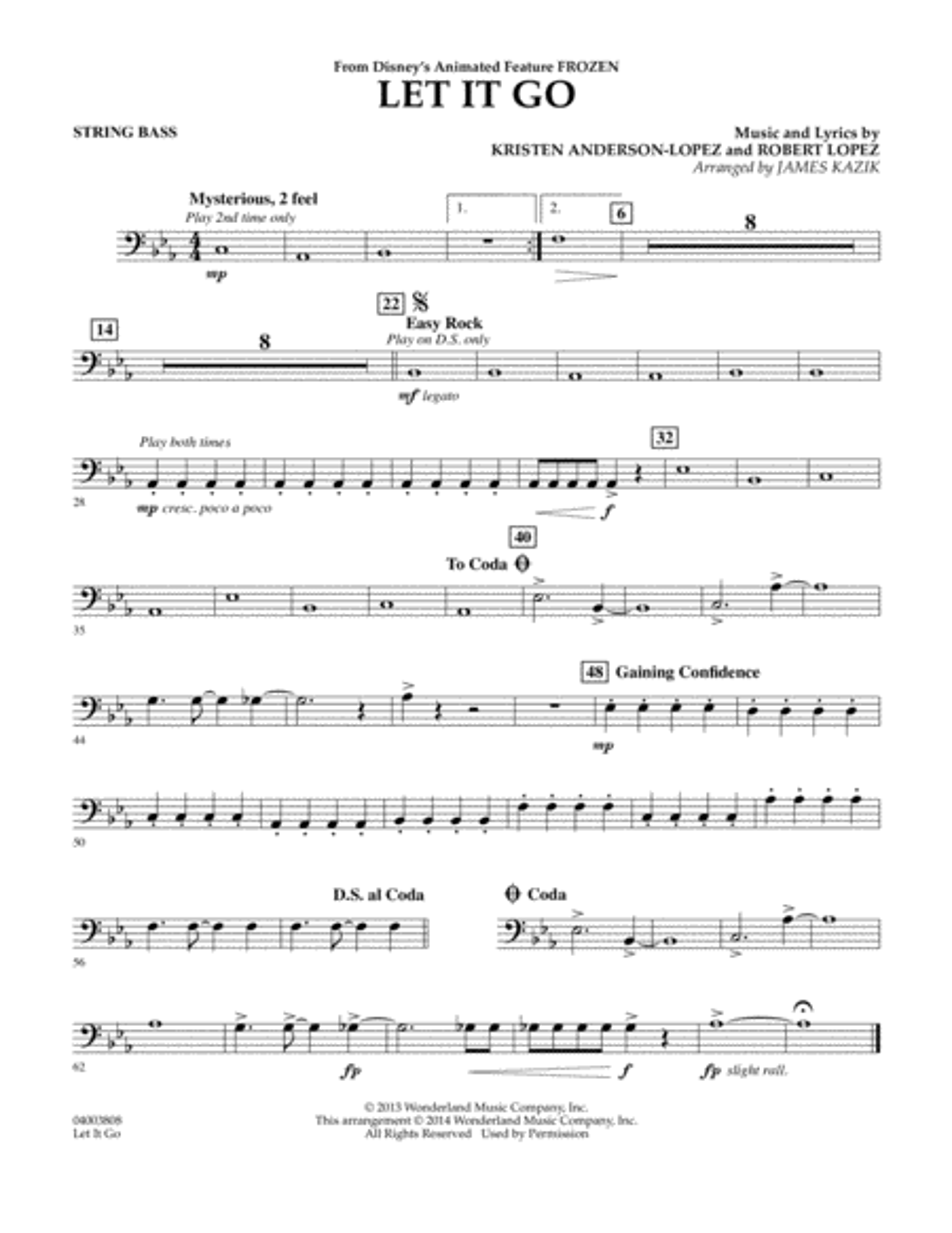 Let It Go - Bass