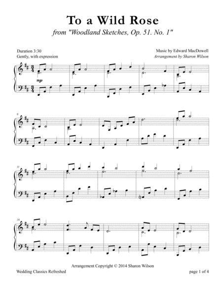 To a Wild Rose (Piano Solo)