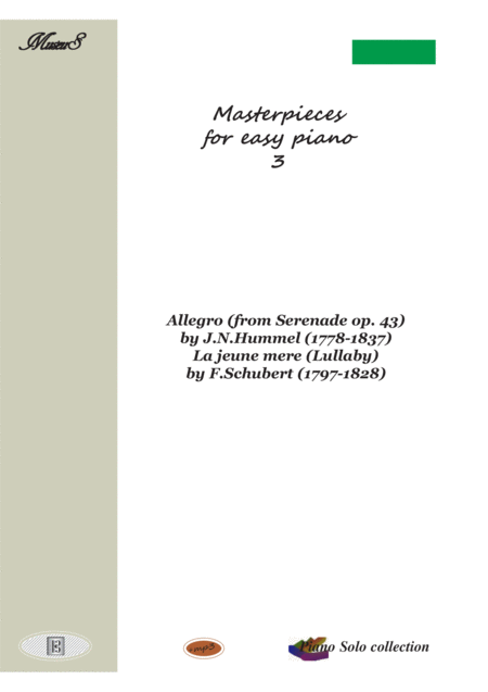 Masterpieces for easy piano 3 by F.Scubert and J.N.Hummel