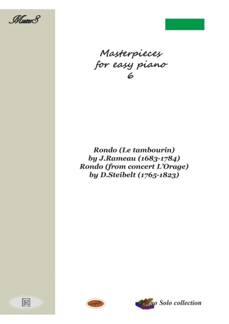 Masterpieces for easy piano 6 by J.Rameau and D.Steibelt