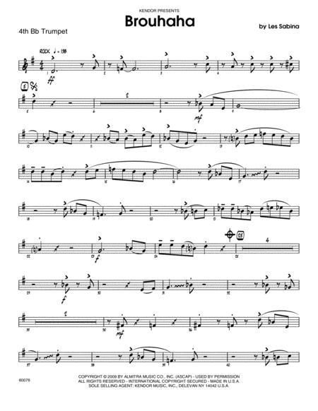 Brouhaha - 4th Bb Trumpet