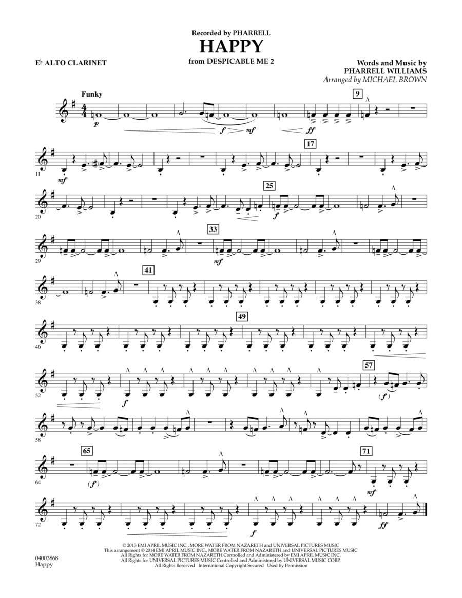 Happy (from Despicable Me 2) - Eb Alto Clarinet