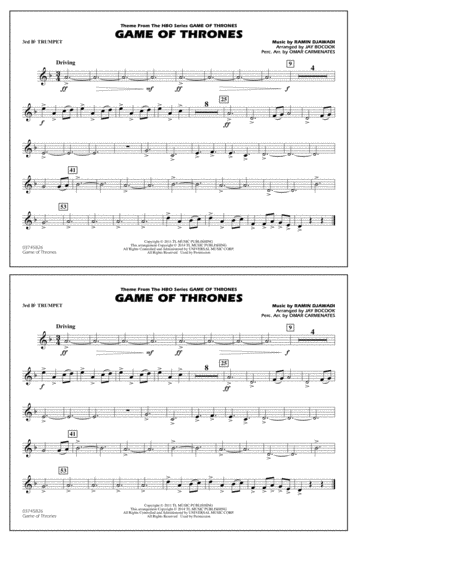 Game of Thrones - 3rd Bb Trumpet