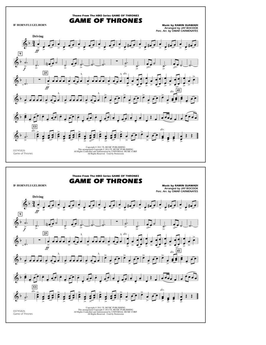 Game of Thrones - Bb Horn/Flugelhorn