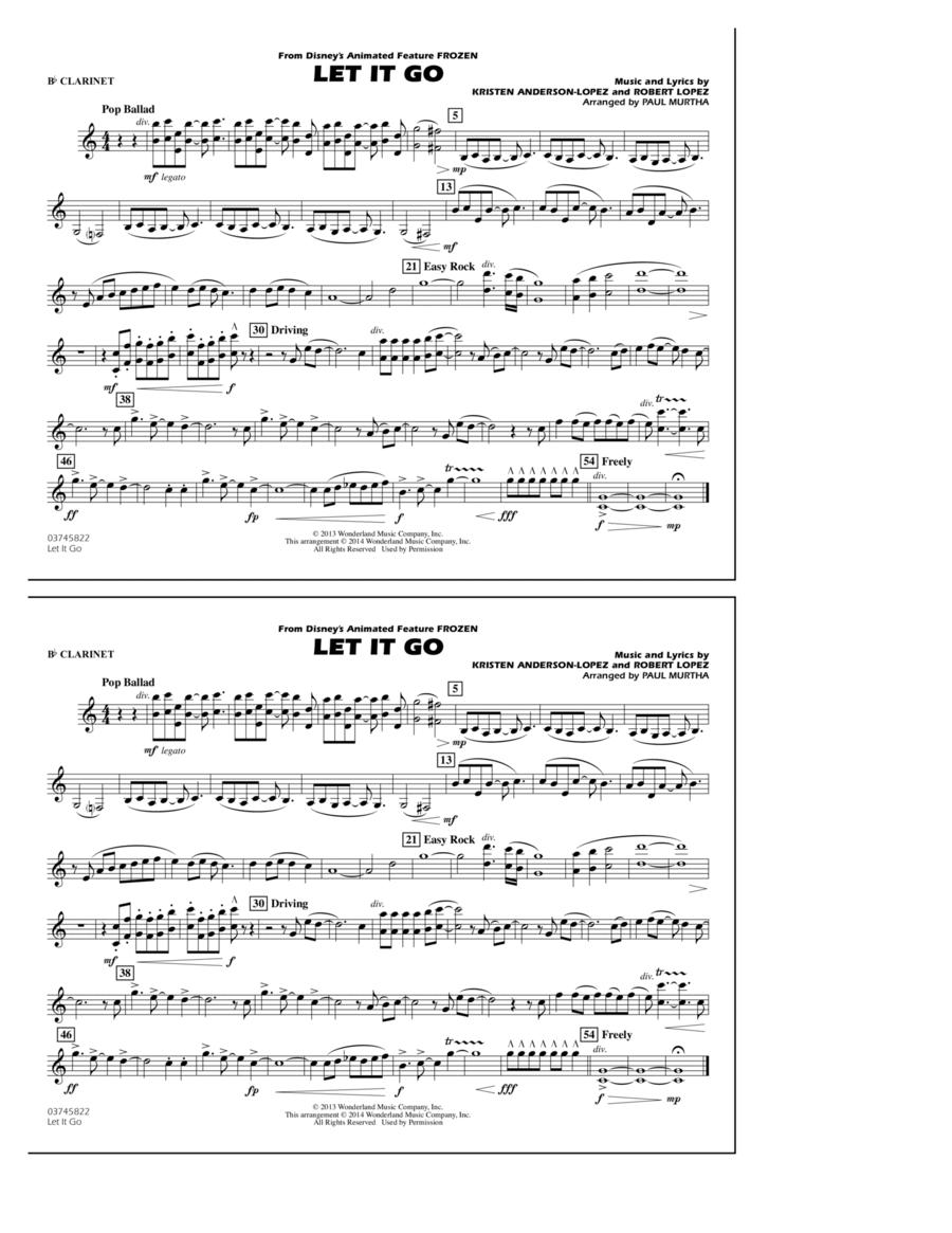 Let It Go - Bb Clarinet