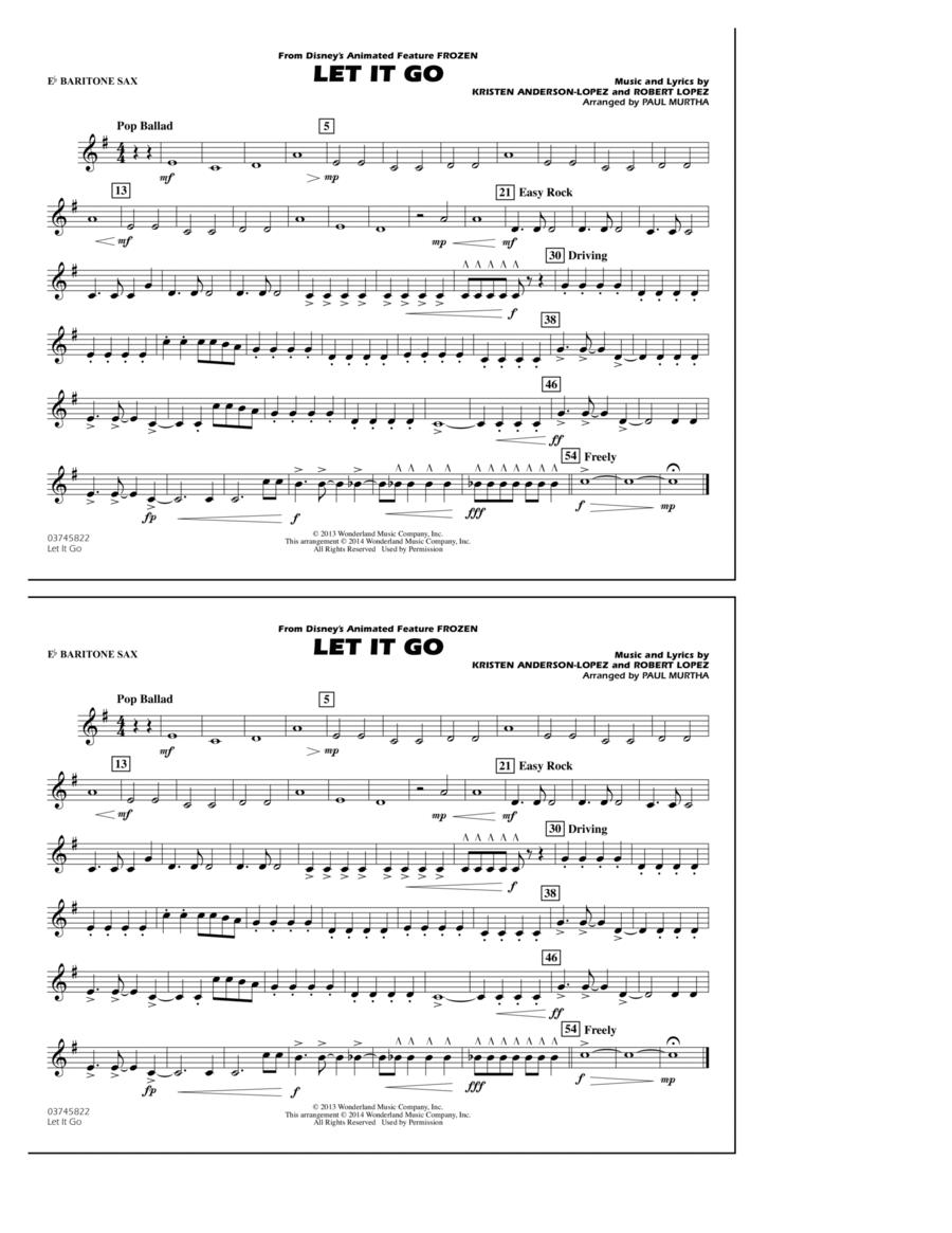 Let It Go - Eb Baritone Sax