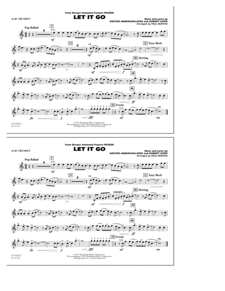 Let It Go - 1st Bb Trumpet