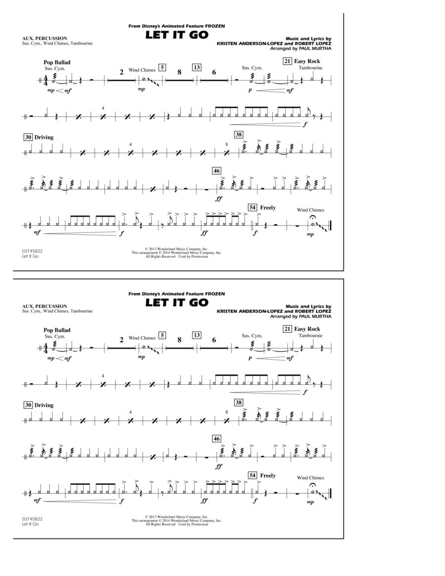 Let It Go - Aux Percussion