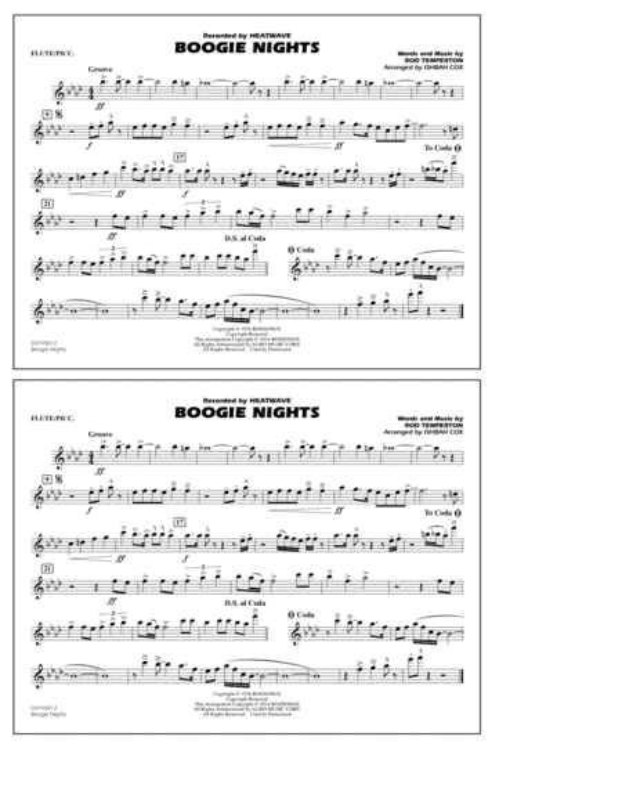 Boogie Nights - Flute/Piccolo