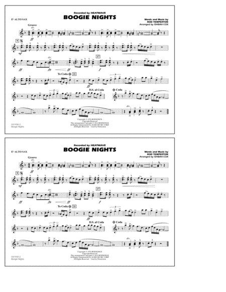 Boogie Nights - Eb Alto Sax