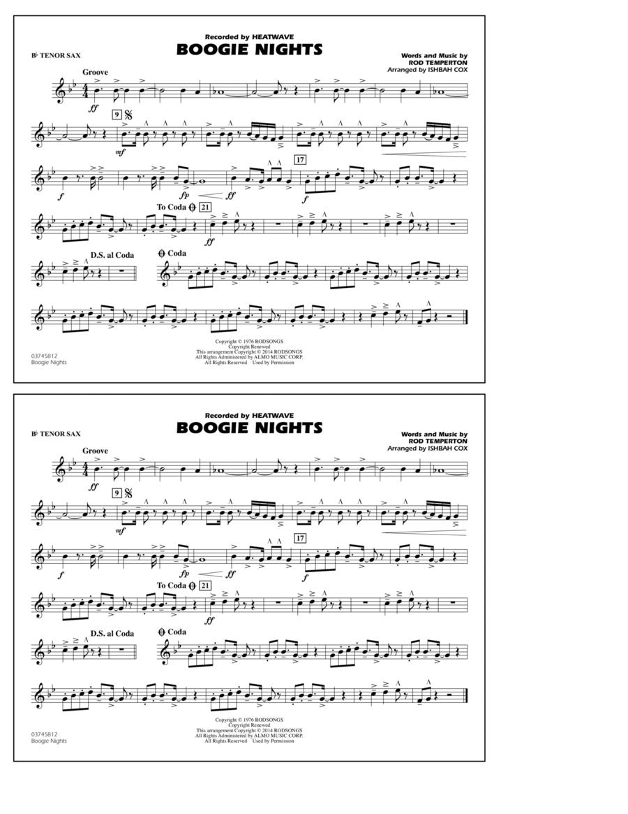 Boogie Nights - Bb Tenor Sax