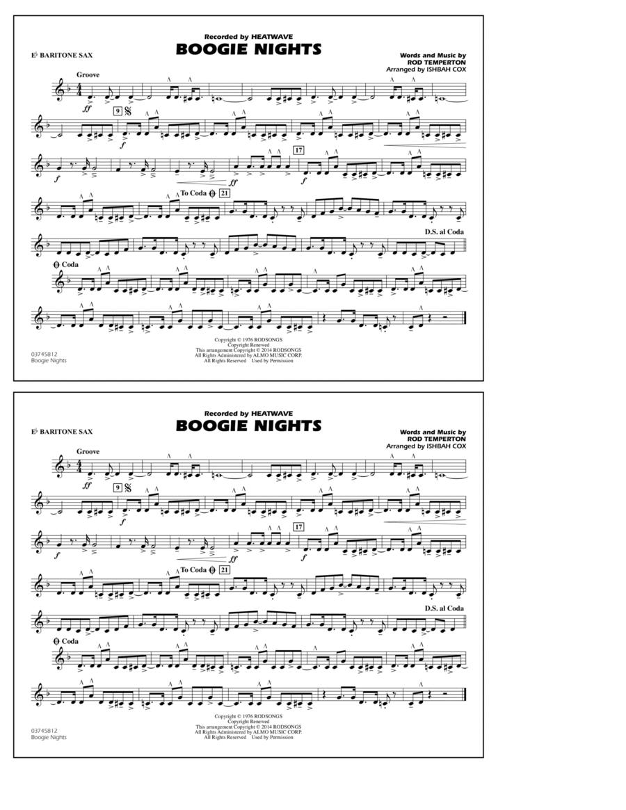 Boogie Nights - Eb Baritone Sax