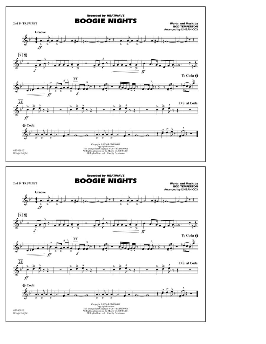 Boogie Nights - 2nd Bb Trumpet