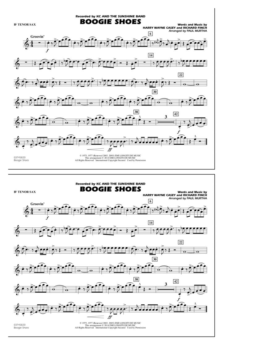 Boogie Shoes - Bb Tenor Sax