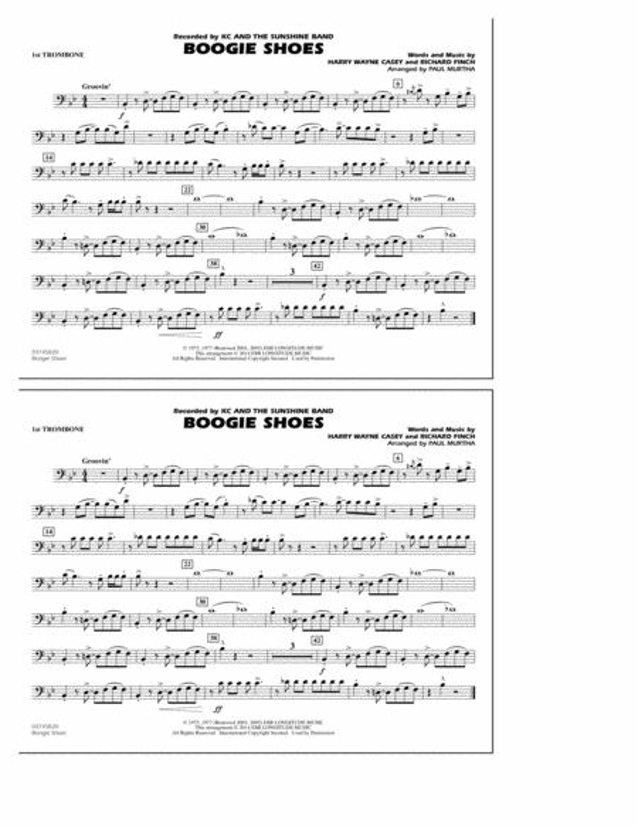 Boogie Shoes - 1st Trombone