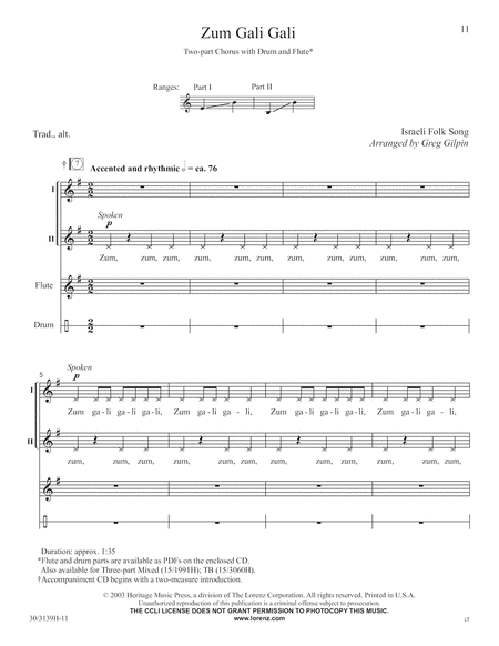 Multiple Voicings for Middle School Voices