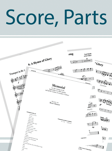 Gloria! - Brass and Percussion Score and Parts