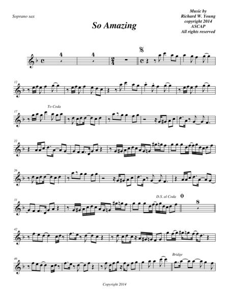 So Amazing- Soprano Sax