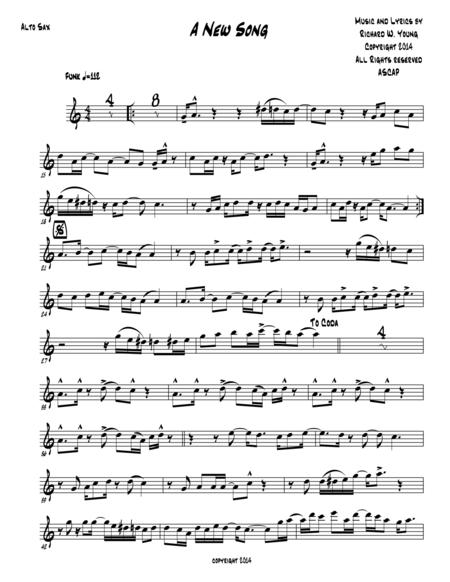 A New Song- Alto Sax