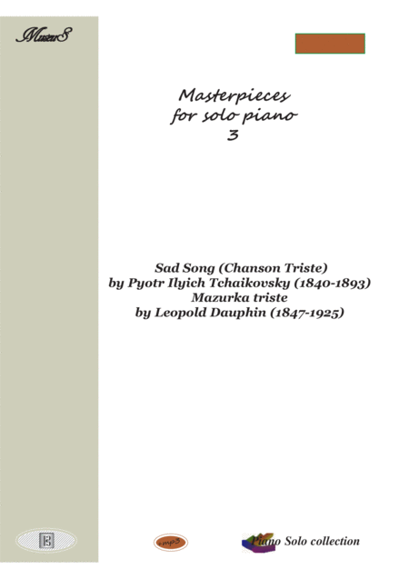 Masterpieces for solo piano 3 by P. Tchaikovsky and L. Dauphin