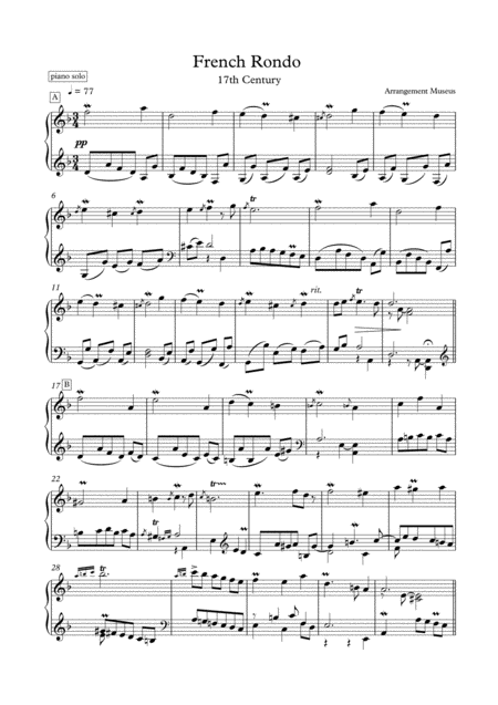 Masterpieces for solo piano 4 by J. Rameau and C. Gounod