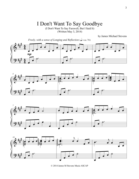 I Don't Want To Say Goodbye