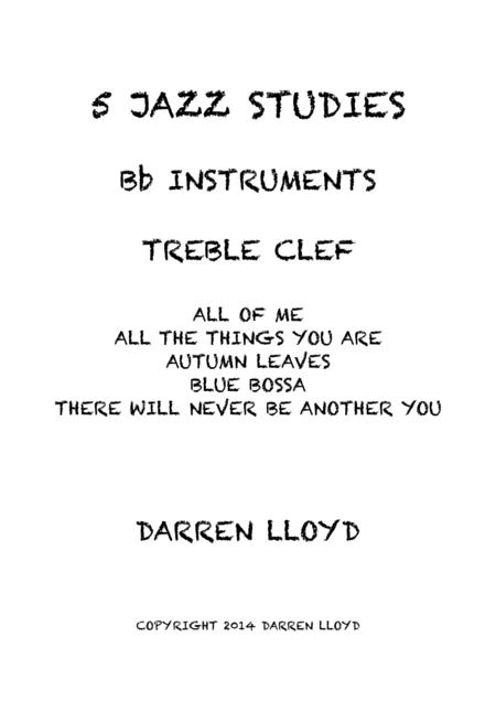 5 Intermediate jazz studies for Bb instruments