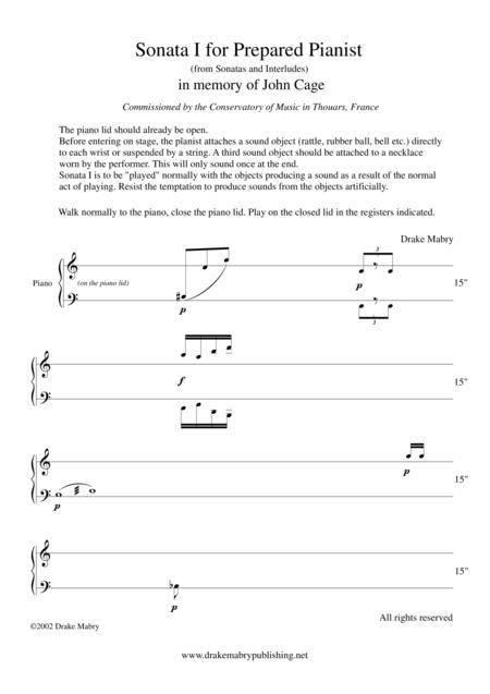 3 Sonatas and Interludes