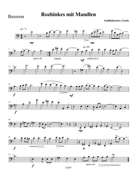 Rozhinkes mit Mandlen (Raisins with Almonds) for Flute, Clarinet, & Bassoon
