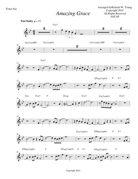 Amazing Grace- Smooth Jazz Tenor sax