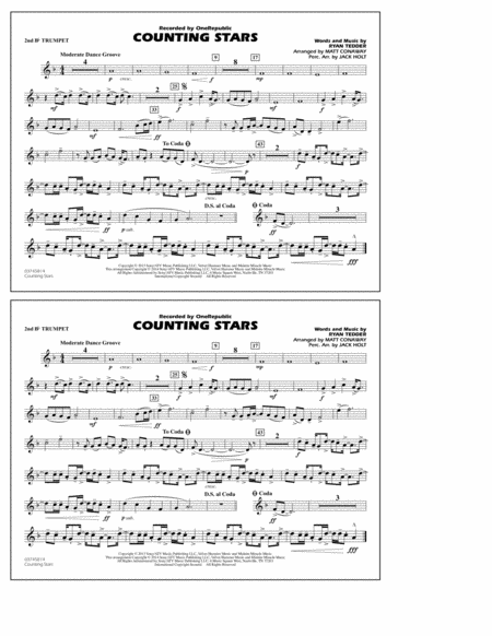 Counting Stars - 2nd Bb Trumpet