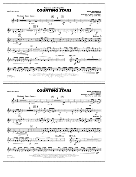 Counting Stars - 3rd Bb Trumpet
