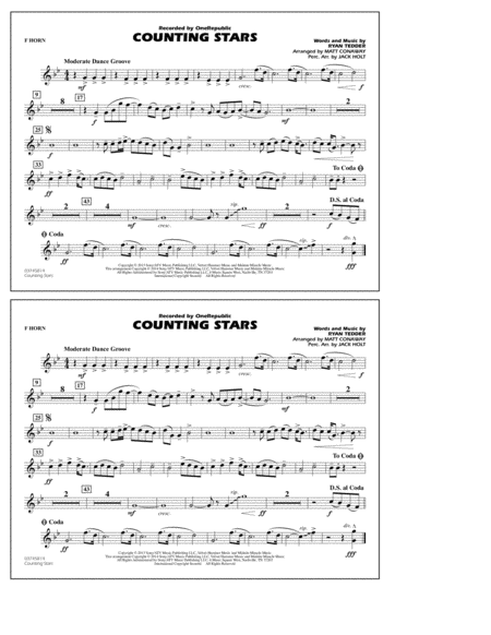 Counting Stars - F Horn