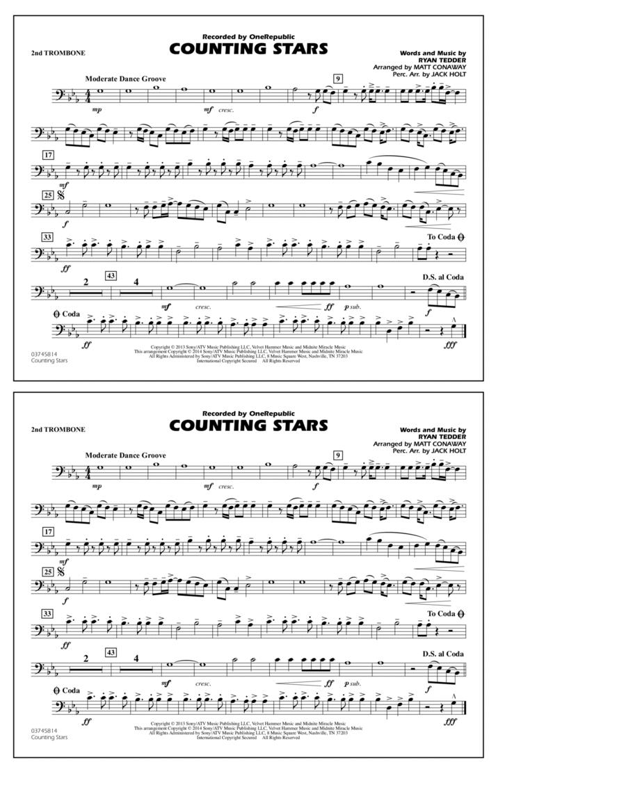 Counting Stars - 2nd Trombone