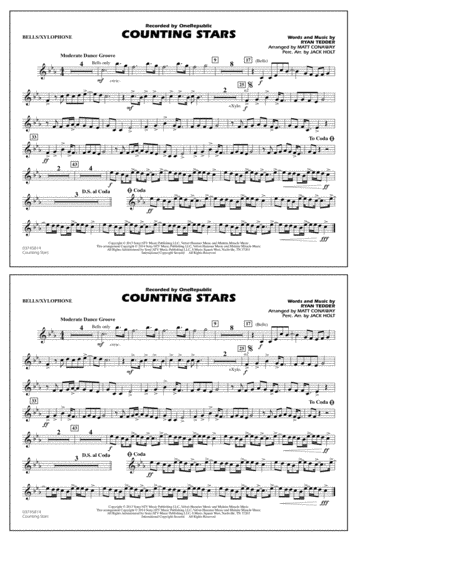 Download Counting Stars - Bells/Xylophone Sheet Music By OneRepublic - Sheet Music Plus
