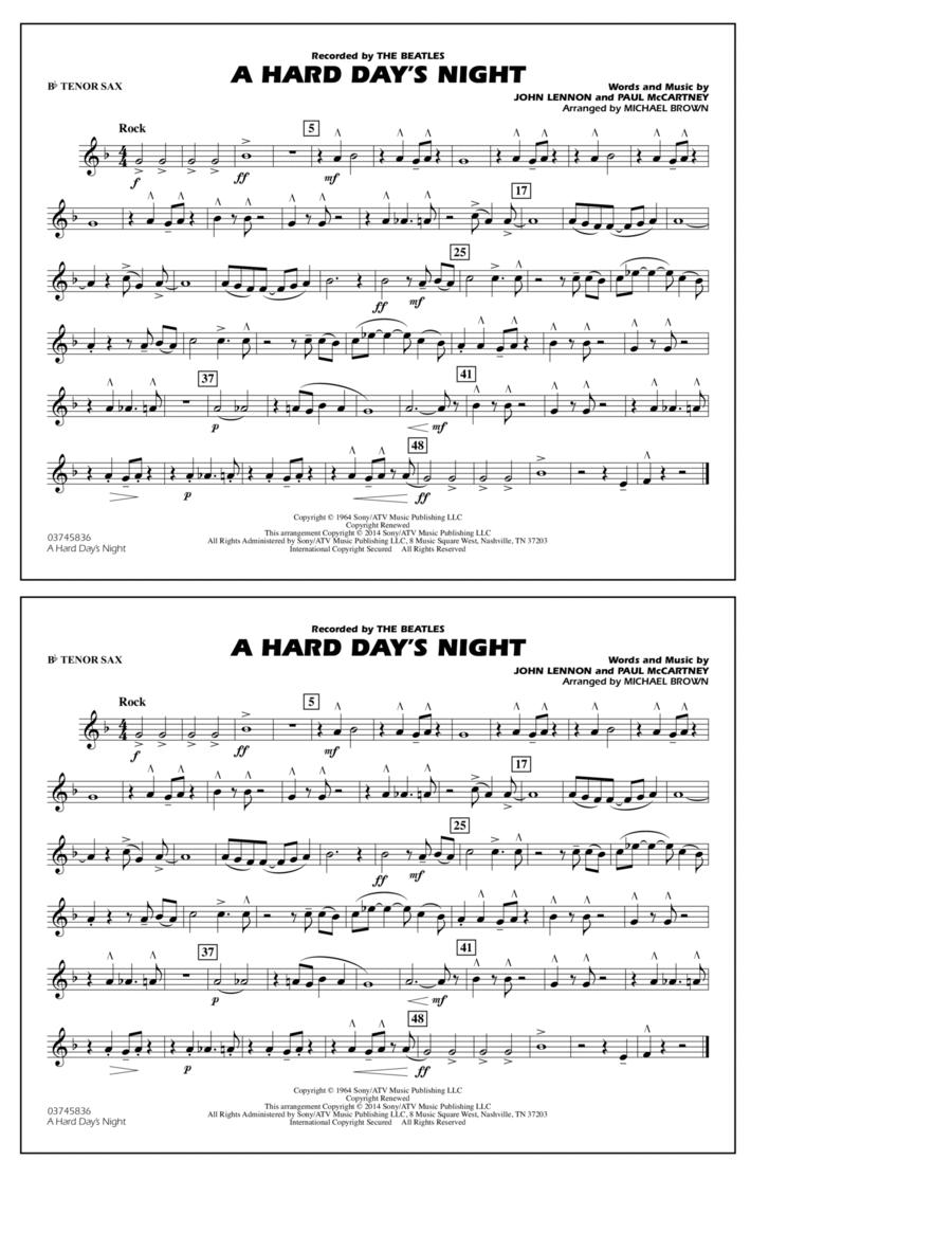 A Hard Day's Night - Bb Tenor Sax
