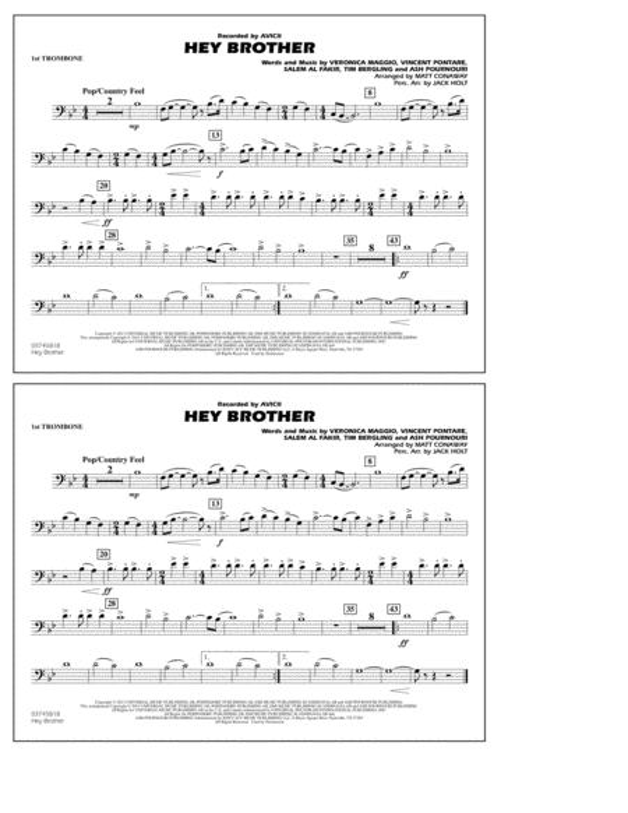 Hey Brother - 1st Trombone