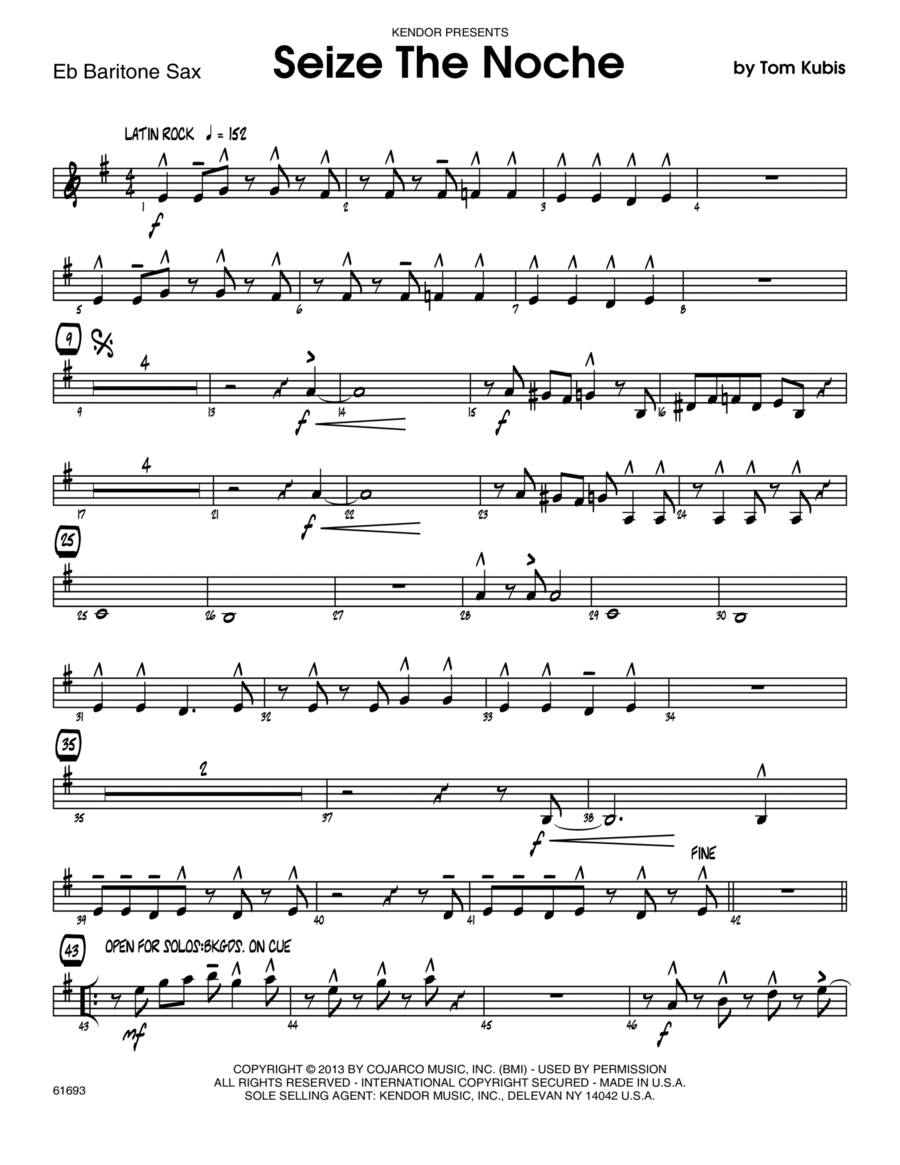 Seize The Noche - Eb Baritone Saxophone