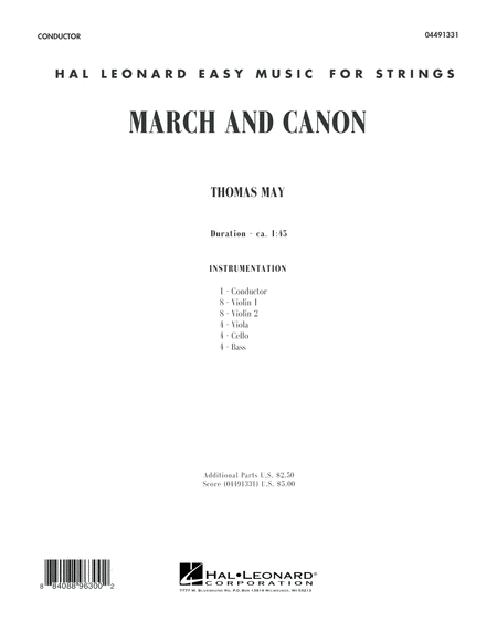 March and Canon - Conductor Score (Full Score)