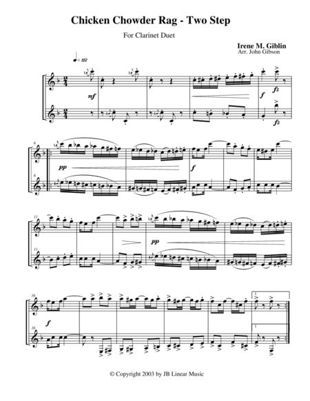 Chicken Chowder Rag by Irene Giblin for clarinet duet