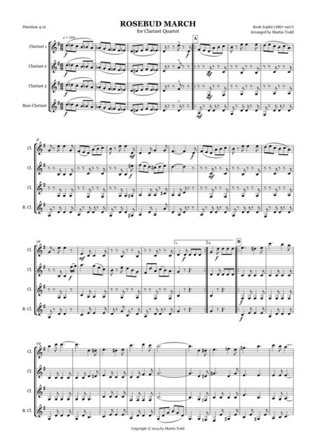 Rosebud March for Clarinet Quartet