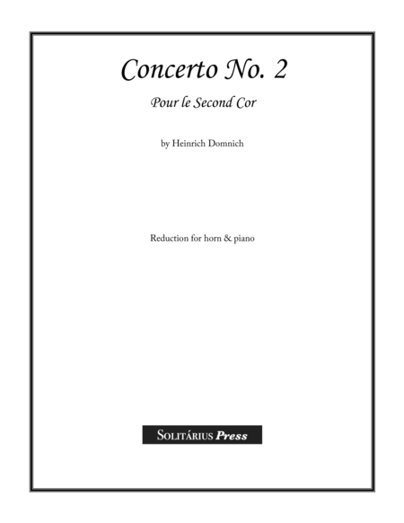 Concerto No. 2 for Low Horn