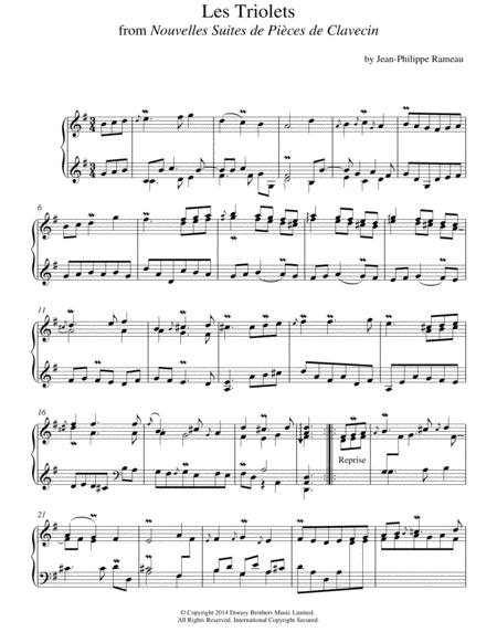 Les Triolets From Nouvelles Suites De Pieces De Clavecin