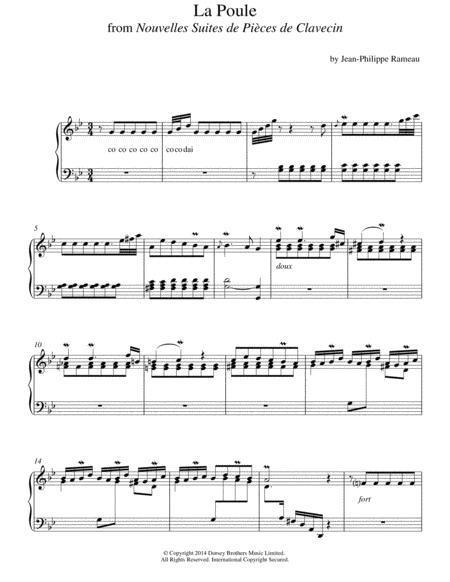 La Poule From Nouvelles Suites De Pieces De Clavecin