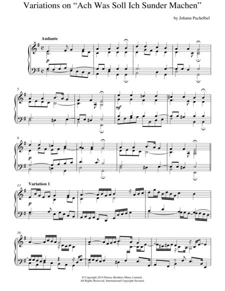 Variations On 'Ach, Was Soll Ich Sunder Machen'