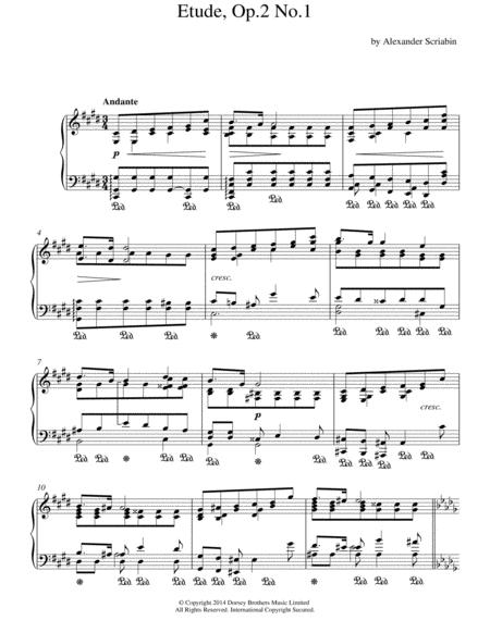 Etude, Op.2 No.1