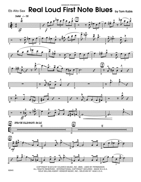 Real Loud First Note Blues - Eb Alto Sax