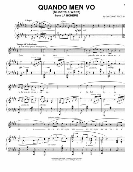 Quando Men Vo (Musetta's Waltz)