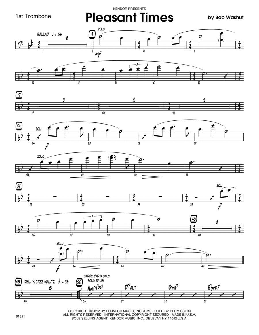 Pleasant Times - 1st Trombone