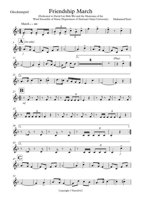 Friendship March (Glockenspiel Part)